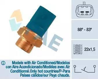 FAE 36260 - Термовыключатель, вентилятор радиатора / кондиционера car-mod.com