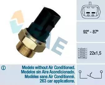 FAE 37220 - Термовыключатель, вентилятор радиатора / кондиционера car-mod.com