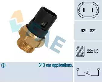 FAE 37250 - Термовыключатель, вентилятор радиатора / кондиционера avtokuzovplus.com.ua