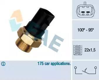 FAE 37280 - Термовыключатель, вентилятор радиатора / кондиционера car-mod.com
