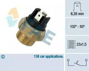 FAE 37410 - Термовыключатель, вентилятор радиатора / кондиционера car-mod.com