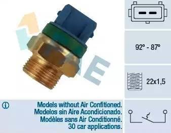 FAE 37680 - Термовыключатель, вентилятор радиатора / кондиционера car-mod.com