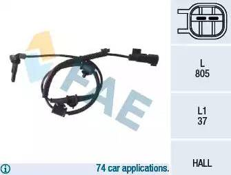FAE 78110 - Датчик ABS, частота вращения колеса autodnr.net