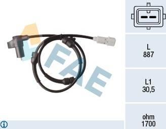 FAE 78368 - Датчик ABS, частота вращения колеса autodnr.net
