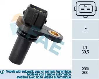 FAE 79008 - Датчик частоты вращения, автоматическая коробка передач autodnr.net