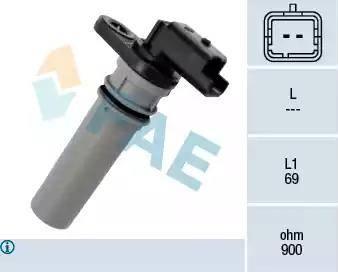 FAE 79256 - Датчик частоты вращения, автоматическая коробка передач autodnr.net
