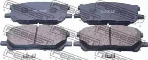 Febest 0101-ACU35F - Тормозные колодки, дисковые car-mod.com