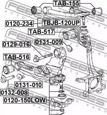 Febi Bilstein ZSD-TY-085F - Шаровая опора, несущий / направляющий шарнир car-mod.com