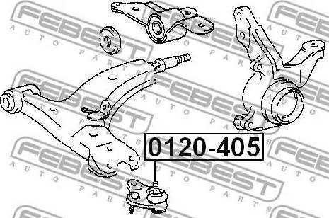 Febest 0120-405 - Шаровая опора, несущий / направляющий шарнир car-mod.com