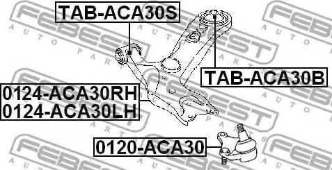 Febest 0120-ACA30 - Несущий / направляющий шарнир autodnr.net