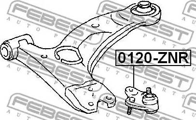 Febest 0120-ZNR - Шаровая опора, несущий / направляющий шарнир car-mod.com