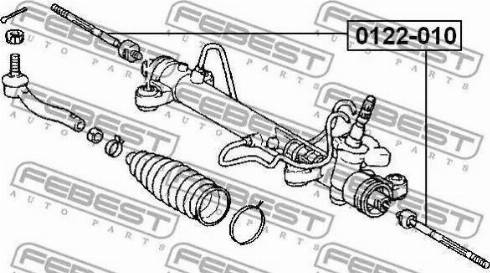 Febest 0122-010 - Осевой шарнир, рулевая тяга autodnr.net