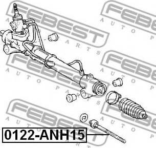 Febest 0122-ANH15 - Осевой шарнир, рулевая тяга autodnr.net