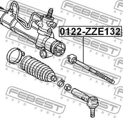 Febest 0122-ZZE132 - Осевой шарнир, рулевая тяга autodnr.net
