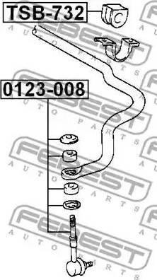 Febest 0123-008 - Тяга / стойка, стабилизатор autodnr.net