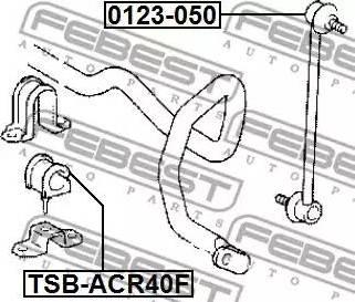 Febest 0123-050 - Тяга / стойка, стабилизатор car-mod.com