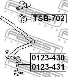 Febest 0123-430 - Тяга / стойка, стабилизатор autodnr.net