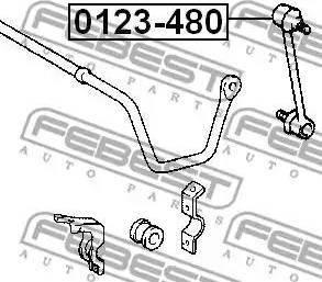 Febest 0123-480 - Тяга / стойка, стабилизатор car-mod.com