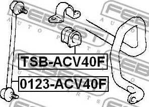 Febest 0123-ACV40F - Тяга / стойка, стабилизатор autodnr.net