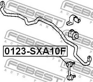 Febest 0123-SXA10F - Тяга / стойка, стабилизатор autodnr.net