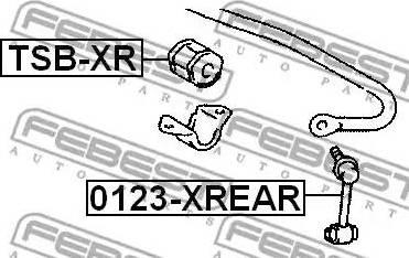 Febest 0123-XREAR - Тяга / стойка, стабилизатор autodnr.net