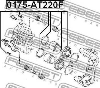 Febest 0175-AT220F - Ремкомплект, тормозной суппорт avtokuzovplus.com.ua