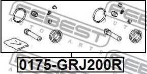 Febest 0175-GRJ200R - Ремкомплект, тормозной суппорт avtokuzovplus.com.ua