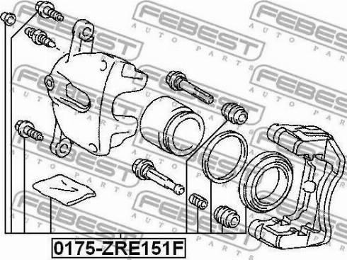 Febest 0175-ZRE151F - Ремкомплект, тормозной суппорт avtokuzovplus.com.ua