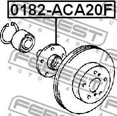 Febest 0182ACA20F - Ступица колеса, поворотный кулак car-mod.com