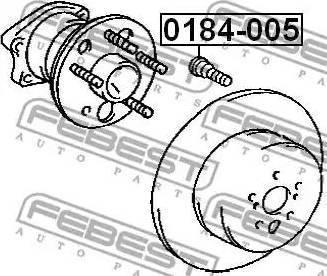 Febest =0184005 - Болт крепления колеса autodnr.net