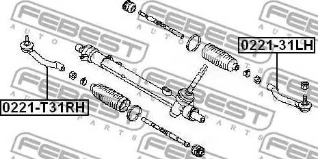 Febest 0221-T31RH - Наконечник рулевой тяги, шарнир car-mod.com