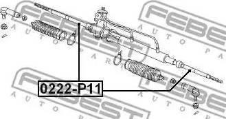 Febest 0222-P11 - Осевой шарнир, рулевая тяга autodnr.net