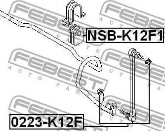 Febest 0223-K12F - Тяга / стойка, стабилизатор autodnr.net