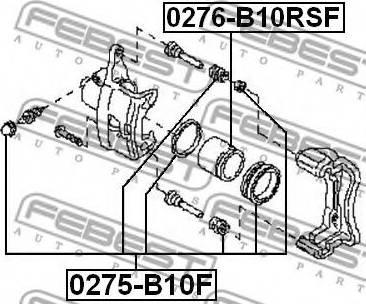 Febest 0275-B10F - Ремкомплект, тормозной суппорт autodnr.net