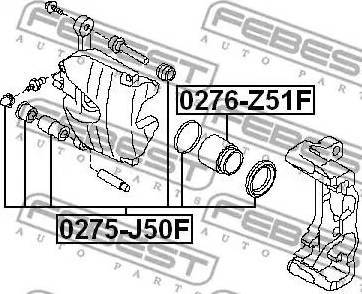 Febest 0275-J50F - Ремкомплект, тормозной суппорт avtokuzovplus.com.ua