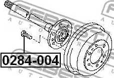 Febest 0284004 - Болт крепления колеса avtokuzovplus.com.ua