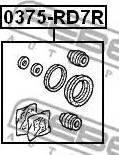 Febest 0375rd7r - Ремкомплект, тормозной суппорт autodnr.net