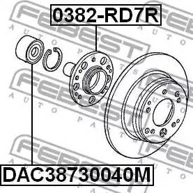 Febest 0382RD7R - Ступица колеса, поворотный кулак car-mod.com