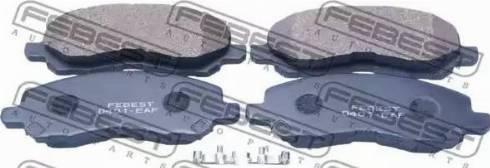 Febest 0401-EAF - Комплект тормозных колодок, дисковый тормоз autodnr.net