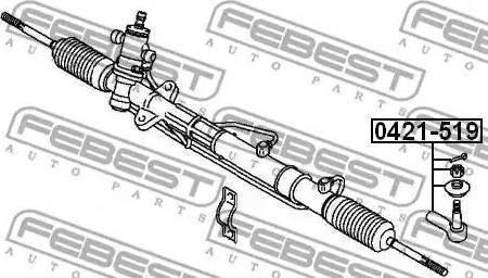 Febest 0421-519 - Наконечник рулевой тяги, шарнир car-mod.com
