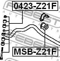 Febest =0423Z21F - Тяга / стойка, стабилизатор autodnr.net