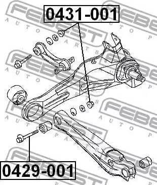 Febest 0429-001 - Болт регулировки развала колёс car-mod.com