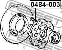 Febest 0484003 - Болт крепления колеса avtokuzovplus.com.ua