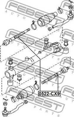 Febi Bilstein SDK-MZ-059F - Осевой шарнир, рулевая тяга autodnr.net