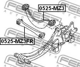 Febest 0525-MZ3FR - Рычаг подвески колеса car-mod.com