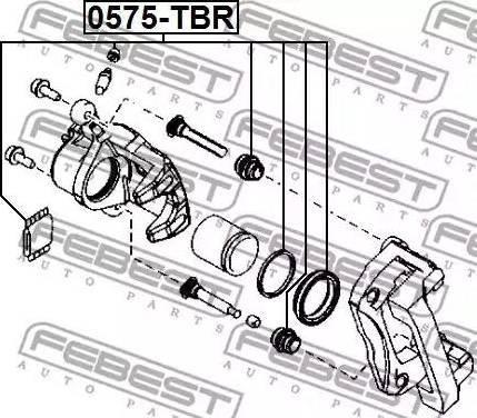 Febest 0575tbr - Ремкомплект, тормозной суппорт autodnr.net