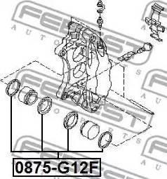 Febest 0875g12f - Ремкомплект, тормозной суппорт autodnr.net
