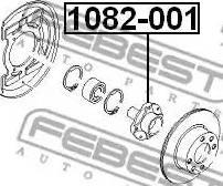 Febest 1082-001 - Маточина колеса autocars.com.ua