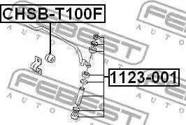 Febest 1123-001 - Stiepnis/Atsaite, Stabilizators car-mod.com
