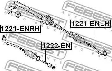 Febest 1221-ENLH - Наконечник рулевой тяги, шарнир car-mod.com